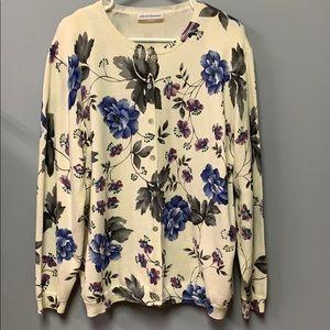 Alfred Dunner Sweater XL Women's Cardigan